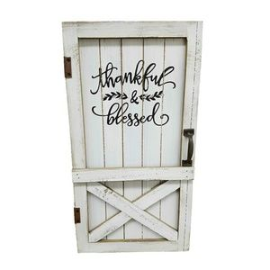 """Other - """"Thankful, Blessed"""" Wooden Barn Wall Decor"""